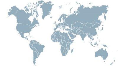 Canvastavlor carte du monde 24072015