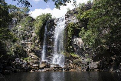 Canvastavlor Cascada grande con Abundante agua en el medio de una Foresta. Cooktown, Queensland, Australien