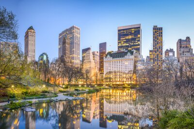 Canvastavlor Central Park New York City på skymningen