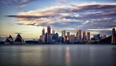 Canvastavlor Centrala Sydney på soluppgången