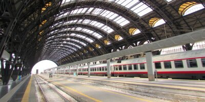 Canvastavlor Centralstationen di Milano