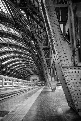 Canvastavlor Centralstationen i Milano - binär
