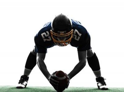Canvastavlor centrum amerikansk fotbollsspelare mansilhouette