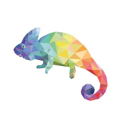 Canvastavlor Chameleon färg