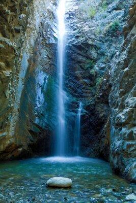 Canvastavlor Chan Vattenfall i Trodos berg, Cypern