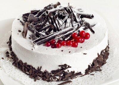 Canvastavlor Cheesecake med röda vinbär