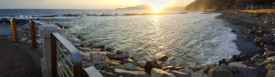 Canvastavlor Chiavari Beach panoramavy