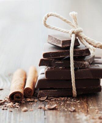 Canvastavlor Choklad och kanel