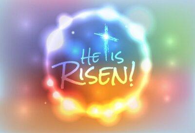 Canvastavlor Christian påsk Risen Illustration