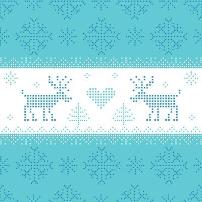 Canvastavlor Christmas Scandinavian kort - för inbjudan, tapet