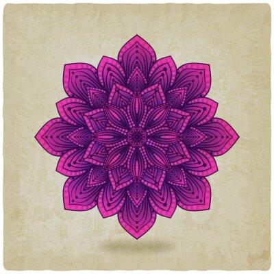 Canvastavlor cirkulärt mönster mandala gamla bakgrund