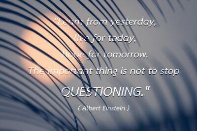 Canvastavlor Citat av Albert Einstein bakgrund.