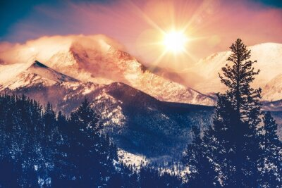 Canvastavlor Colorado Berg Vista