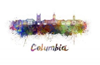 Canvastavlor Columbia MO skyline i vattenfärg