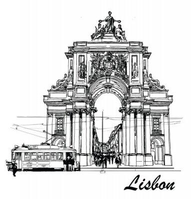 Canvastavlor Commerce Square i Lissabon