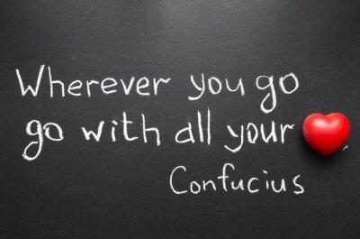 Canvastavlor Confucius citat
