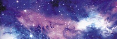 Canvastavlor Cosmos banderoll med stjärnor