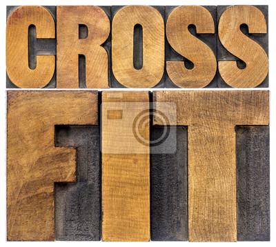 Canvastavlor crossfit ordet abstrakt