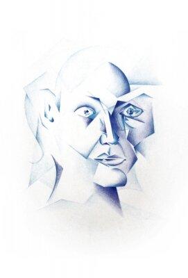 Canvastavlor Cubist Face