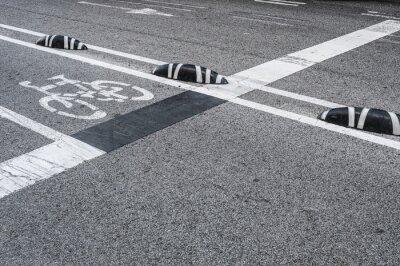 Canvastavlor Cykelbanans skyltar i staden
