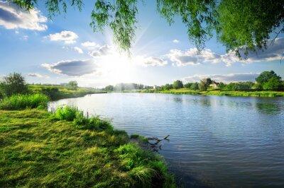 Canvastavlor Dag på en flod