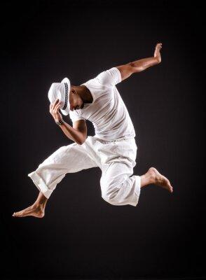 Canvastavlor Dansare danser i vita kläder