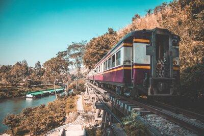 Canvastavlor Death Railway i Kanchanaburi, Thailand