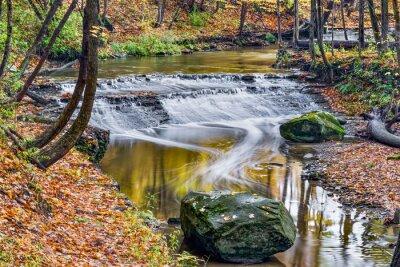 Canvastavlor Deer Lick Creek Water