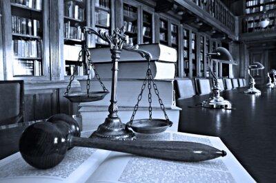 Canvastavlor Dekorativa Scales of Justice i biblioteket