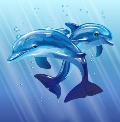 Canvastavlor delfiner