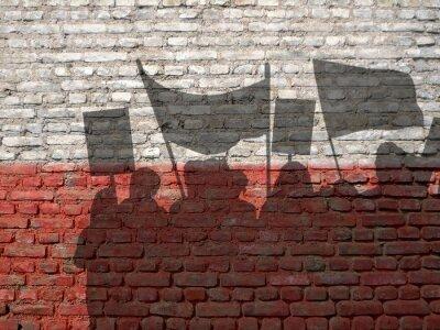 Canvastavlor Demonstration i Polen