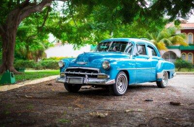 Canvastavlor Den gamla bil på Kuba