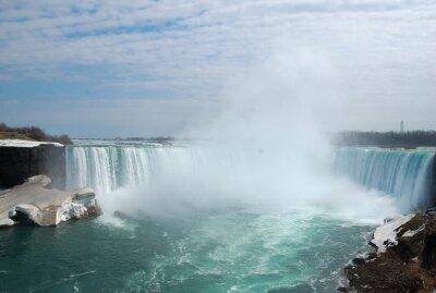 Canvastavlor Den spektakulära Niagara Falls i vinter.