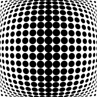 Canvastavlor Design monokroma dotsbakgrund