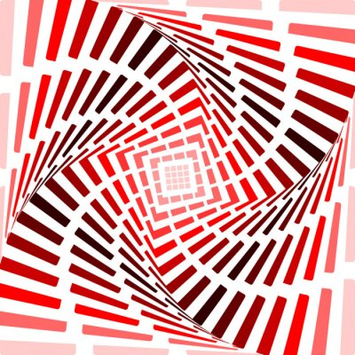 Canvastavlor Design röd snurra rörelse illusion bakgrund. Abstrakt bandet till