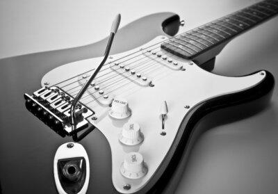 Canvastavlor Detalj av elgitarr