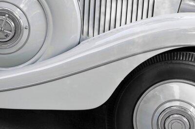 Canvastavlor Detalj av en gammal bil karosseri