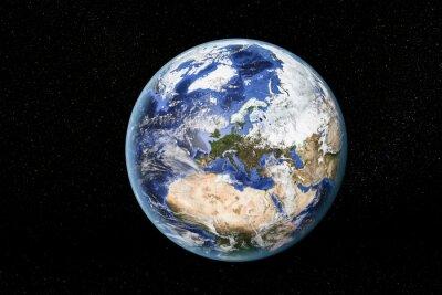 Canvastavlor Detaljerad vy av jorden från rymden, visar Nordafrika, Europa och Mellanöstern. Delar av denna bild som tillhandahålls av NASA