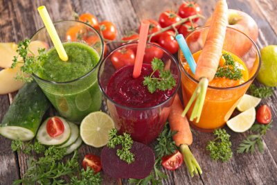 Canvastavlor detox grönsaksjuice