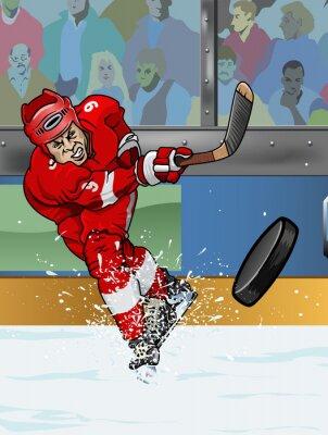 Canvastavlor Detroit ishockeyspelare.