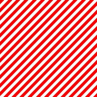 Canvastavlor Diagonal rand röd-vitt mönster vektor