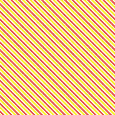 Canvastavlor Diagonal rand seamless. Geometrisk klassisk gul och röd linje bakgrund.