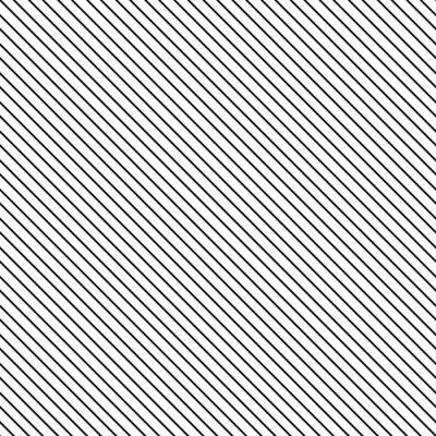 Canvastavlor Diagonal rand seamless. Geometrisk klassiskt svart och vitt tunn linje bakgrund.