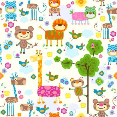 Canvastavlor djurbakgrunds