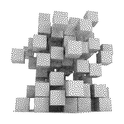 Canvastavlor Dotwork Halvton vektor Lådor Ikon