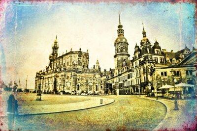 Canvastavlor Dresden tappningillustration