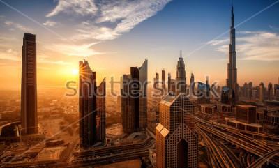 Canvastavlor Dubai vid soluppgången