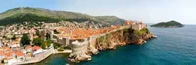 Canvastavlor Dubrovnik väggar panorama