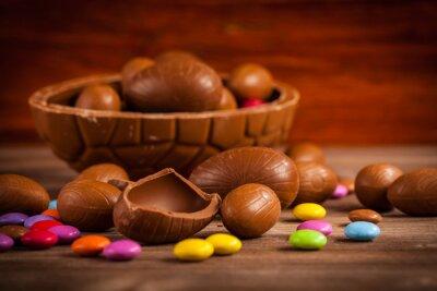 Canvastavlor Easter chokladbakgrund
