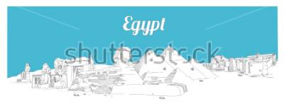Canvastavlor EGYPT handteckning panoramisk skissillustration